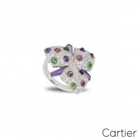 Cartier White Gold Caresse d'Orchidées Ring